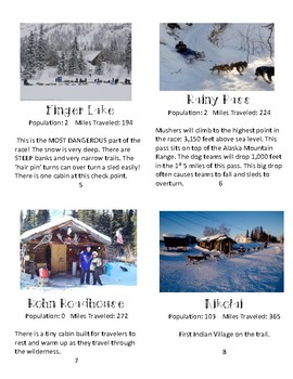 Iditarod Southern Trail Check Point Cards