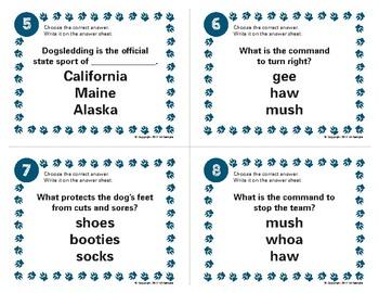 Iditarod Task Card Set