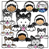 Iditarod Page Toppers Clipart Bundle