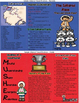 Iditarod Travel Brochure - An Upper Elementary Technology Project (CCSS Aligned)