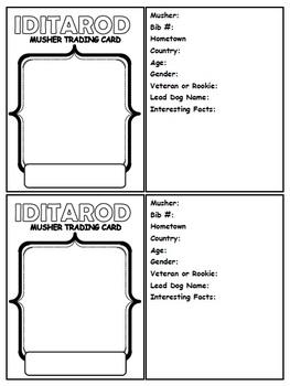 Iditarod Unit Study