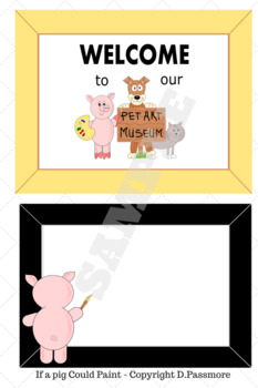 If A Pig Could Paint, Art Painting Prompt, Art class theme, easy bulletin board