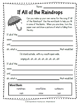 If All of the Raindrops - A Dynamics & Creative Writing Activity FREEBIE