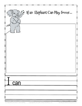 If An Elephant Can Paint...Self-Esteem and Goal Setting Activity