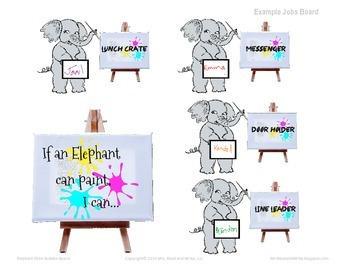 If An Elephant Can...Bulletin and Job Board Materials