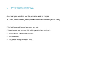 If Clauses / Conditionals (types +  exercises)
