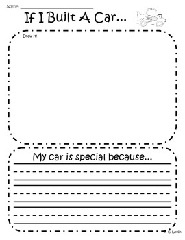 If I Built A Car Writing & Graphic Organizer Pack