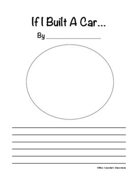 If I Built a Car Writing Activity