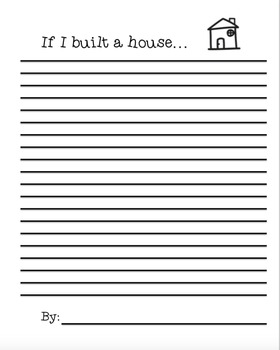 If I Built a House - Lesson Plan & Writing Activity
