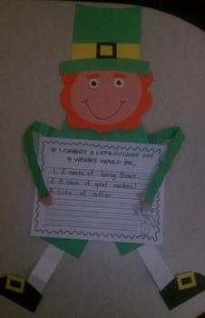 If I Caught A Leprechaun Craftivity and Writing Activity
