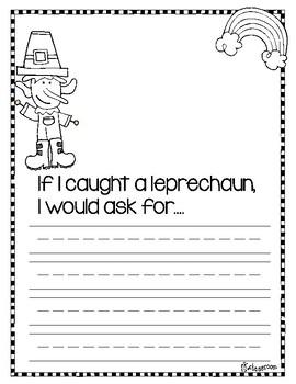 If I Caught a Leprechaun WRITING Activity