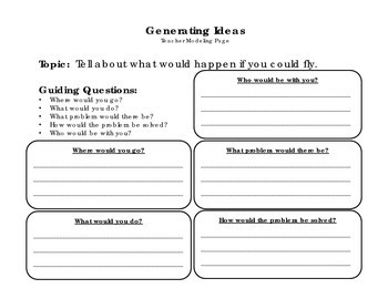 If I Could Fly - Imaginative Narrative Writing Packet