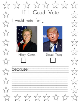 If I Could Vote - Coloring Version 2016