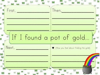If I Found A Pot of Gold Four Square and Lined Paper