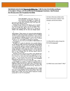 If I Grow Up - Strasser - Reading Guide p118-127