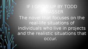 If I Grow Up by Todd Strasser PowerPoint