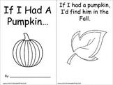 If I Had A Pumpkin Printable Book