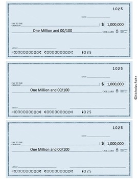 If I Had a Million Dollars - Math Project
