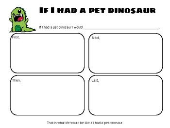 If I Had a Pet Dinosaur - Writing Prompt