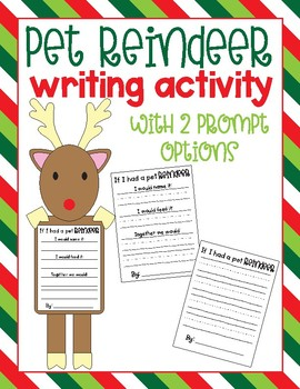 If I Had a Pet Reindeer Writing Activity and Craft