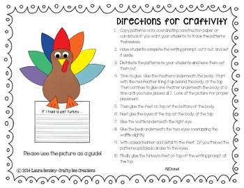 If I Had a Pet Turkey Craftivity