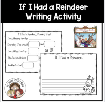 If I Had a Reindeer Writing Activity with Planning Paper