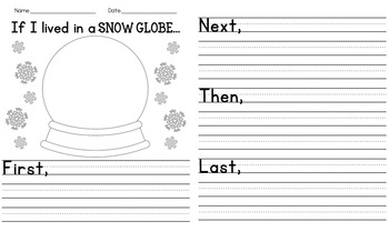 If I Lived In A Snow Globe Writing Template