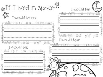 If I Lived in Space (A Creative Writing Activity)