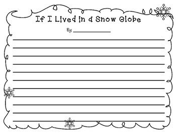 If I Lived in a Snow Globe - writing project