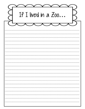 If I Lived in a Zoo Writing Paper