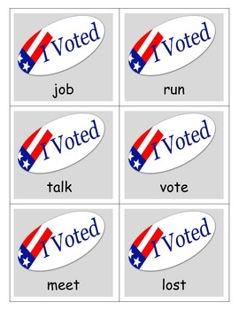 If I Ran for President: Book Study, Election, General and Special Ed. Centers