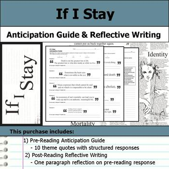 If I Stay - Anticipation Guide & Reflection Writing