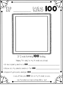 If I Was 100! {100th Day of School Freebie}