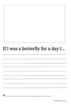 If I Was A Butterfly Writing Prompt
