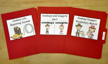 "Adapted Books Unit--""If I Were A Cowboy"""
