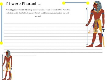 If I Were A Pharaoh....Ancient Egypt Writing Assignment