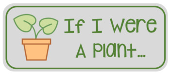 If I Were A Plant Worksheet