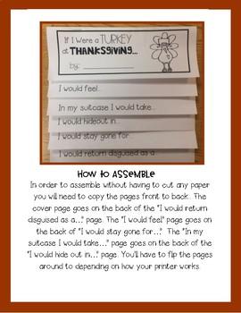 If I Were A Turkey Flip Book FREEBIE