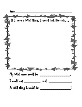 If I Were A Wild Thing Worksheet