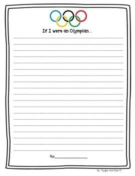 If I Were An Olympian Writing