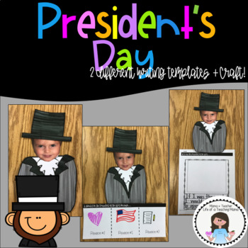 If I Were President... Craft + 2 Writing Template