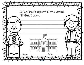 If I Were President Discussion Printable Preschool and Kindergarten
