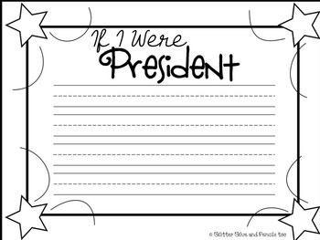 If I Were President **FREEBIE** Writing Prompt