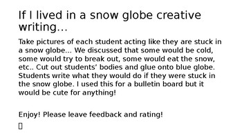 If I Were Stuck in a Snow Globe...