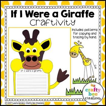 Giraffe Craft {If I Were a Giraffe Writing Prompt}