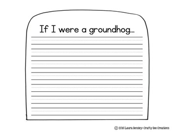 If I Were a Groundhog Craftivity