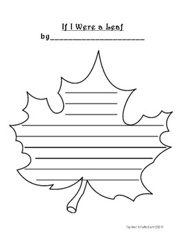 If I Were a Leaf Fall Writing Prompt + Planning Page