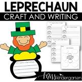 St Patricks Day Activities Leprechaun Craft and Writing Templates