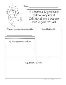 If I Were a Leprechaun {Freebie}