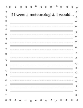 If I Were a Meteorologist, I Would... Writing Sheet FREEBIE